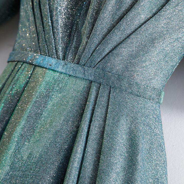 Lang glitzer abendkleid blau Abendkleid lang