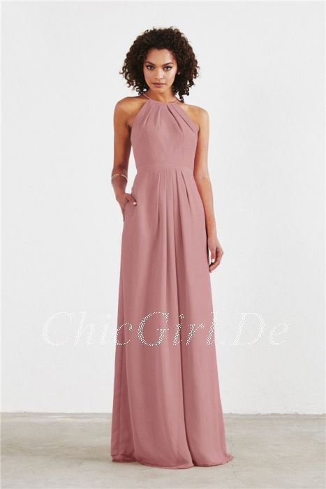 Kleid lang altrosa