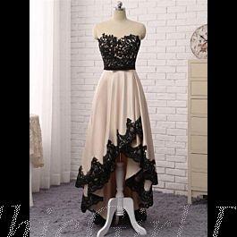 Vokuhila Abschlussballkleid Asymmetrisches Abendkleid ...