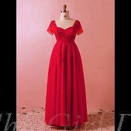 Abendkleid Ballkleider Große Größen Queen Anne Ausschnitt ...