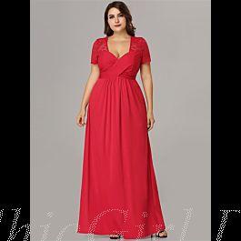 Abendkleid Brautjungfernkleider Große Größen Queen Anne ...