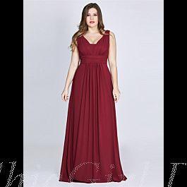 Abendkleid Brautjungfernkleider Große Größen V Ausschnitt ...