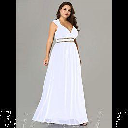 Abendkleid Brautkleid Empire Große Größen Rückenausschnitt ...