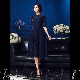 Elegante Abendkleid Brautmutterkleider Hochgeschlossen ...