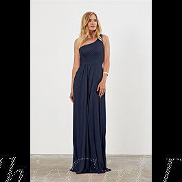 Elegante One Shoulder Brautjungfernkleider Jersey Lang ...