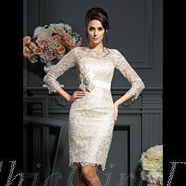 Etuikleid Abendkleid Brautmutterkleider Knielang ...