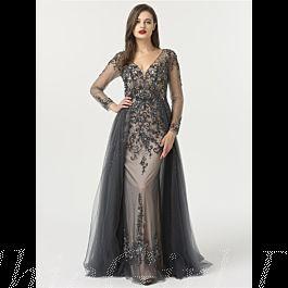 Wunderschönes Designer V Ausschnitt Abendkleid Ballkleid ...