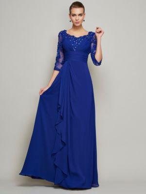 76c6844af55ba8 Brautmutterkleider günstig online kaufen | Länge: Bodenlang ;  VERSCHÖNERUNGEN: Perlen