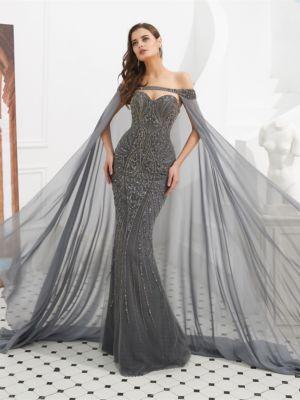 ceb8fb9c28dcef Abendkleider günstig online kaufen | Farbe: Grau; VERSCHÖNERUNGEN: Perlen  verziert
