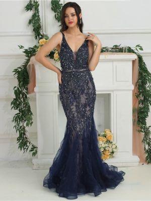 33673629f128 Abendkleider günstig online kaufen   VERSCHÖNERUNGEN: Federn/Pelz