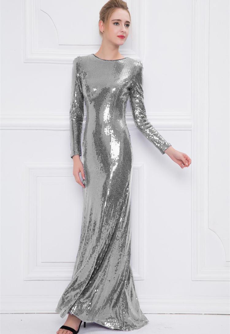 Abendkleid Silber Glitzer - Abendkleider & elegante ...