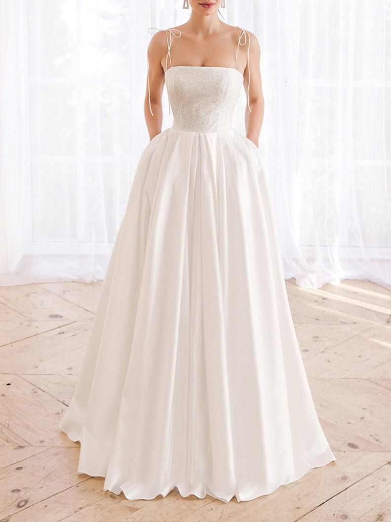 Hochzeitskleider spitze schlicht