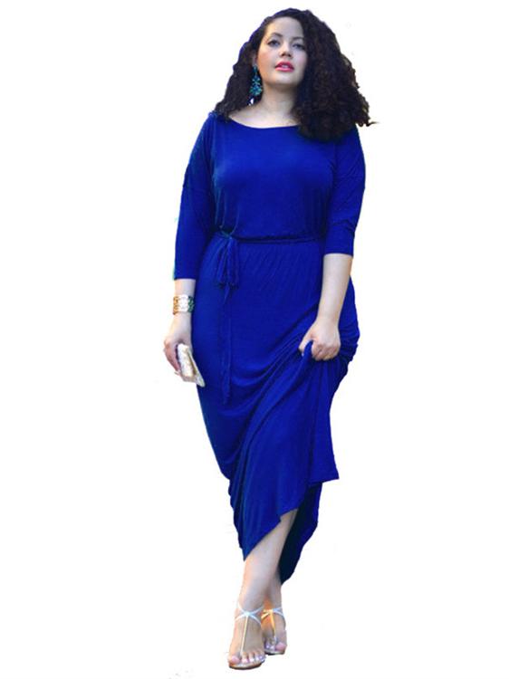 guter Verkauf speziell für Schuh Wählen Sie für echte Wickelkleid Große Größen Kleid Für Mollige Lang Türkis Mit Ärmel